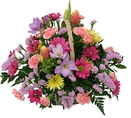 Send flowers basket